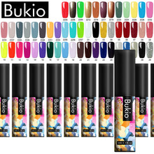 Bukio 5 Ml 60 Warna Matte Uv Gel Cat Kuku Warna Murni Enamel Manikur Perlu Matte Top Coat Rendam Off gel Varnish Nail Art(China)