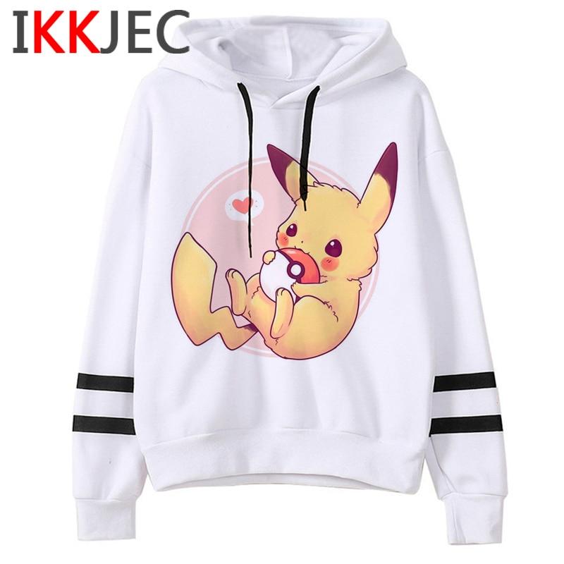 Pokemon Go Funny Cartoon Warm Hoodies Men/women Cute Pikachu Japanese Anime Sweatshirts Fashion 90s Steetwear Hoody Male/female 12