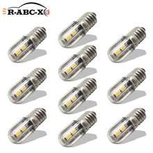 RUIANDSION 10 pièces E10 4 3030SMD AC 220V 230V blanc chaud 3000K jaune réfrigérateur Led ampoule Machine-outil éclairage 10 mm diamètre Base