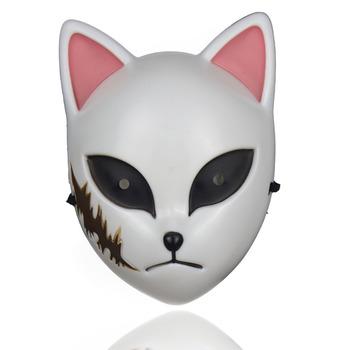 Japońskie anime maski cosplay maska halloween Demon Slayer Kimetsu nie Yaiba maska Kamado Tanjirou Sabito na imprezę cosplay rekwizyty tanie i dobre opinie Prowow Unisex Dla dorosłych Demon Slayer Masks Z tworzywa sztucznego