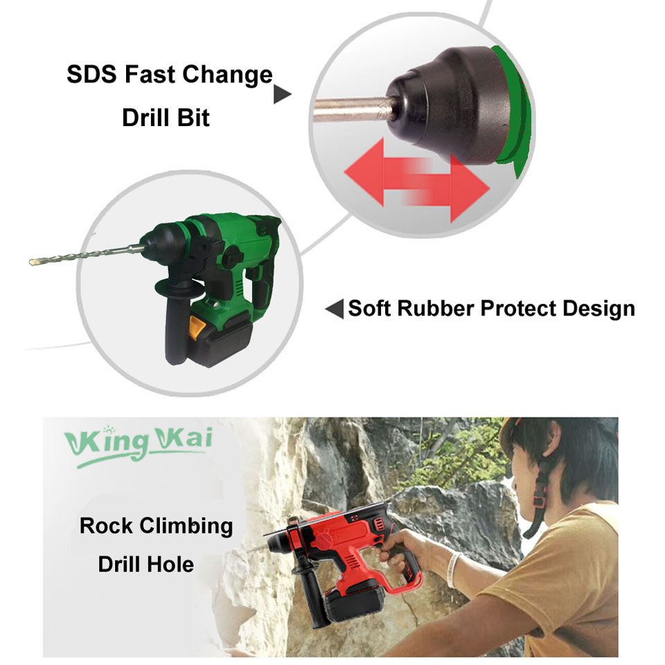 Electric Cordless Brushless Samsung Battery Impact Hammer Drill (7)