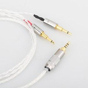 Image 2 - Audiocrast 2.5 ミリメートル 8 コア銀はアップグレードケーブル HE1000 HE400S HE560 oppo PM 1 PM 2