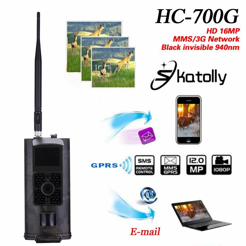 Skatolly HC-700G Full HD 16MP 1080P chasse Trail caméra HC700G vidéo Vision nocturne 3G MMS GPRS jeu de scoutisme + livraison gratuite!