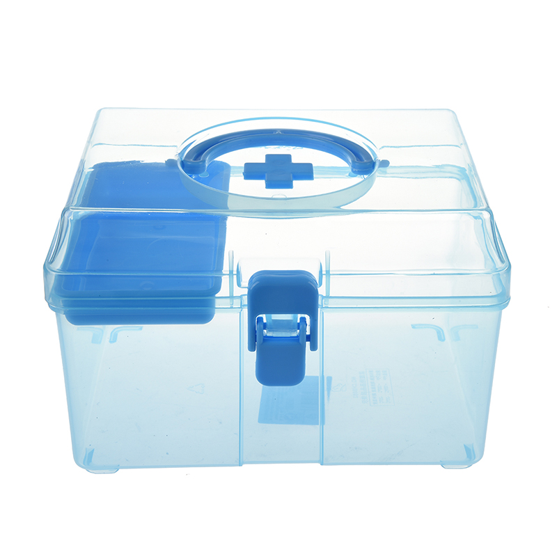 AAAE Top-Random Color Plastic Family Healthy Box Medicine Chest Pill First Aid Case