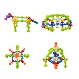 Image 2 - Blocos de construção de plástico macio crianças diy pop otários engraçado bloco de silicone brinquedo de construção para crianças meninos meninas presente natal