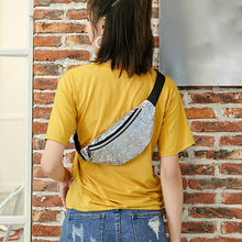 Sparkling waist bag Neutral Outdoor Sport Laser banana Beach Bag Messenger Crossbody Bag Chest Bag sac banane Dropshipping #ZC(China)
