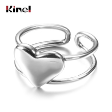 Kinel 2020 New Personality Silver Ring Korea Fine Jewelry Handmade Open 925 Sterling Silver Ring For Women Fashion Party Gift 925 sterling silver personality retro winding ring ladies old thai silver twist open ring fine jewelry party elegant accessories