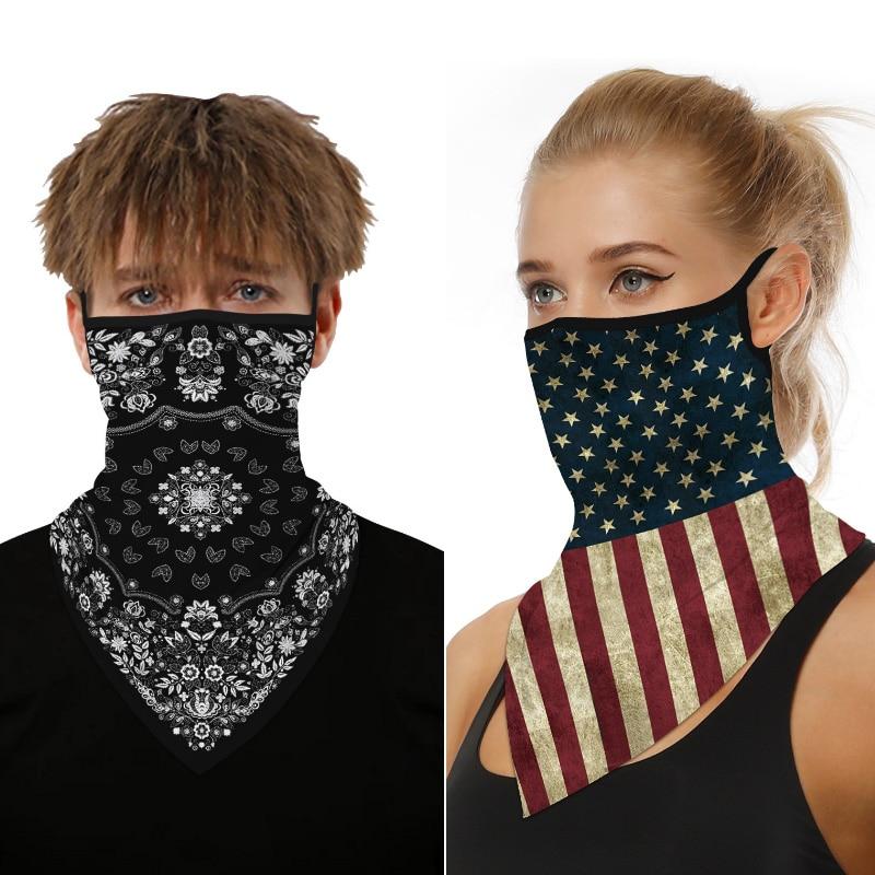 2020 Brand Face Mask Scarf Women Men Magic Print Bandana Outdoor Cycling Unisex Neck Luxury Mouth Scarves