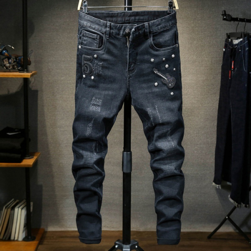 2018 Autumn And Winter New Style Brushed Thick MEN'S Jeans Heavy Craft