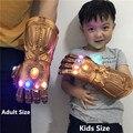 2019 avengers 4 endgame super-herói thanos figura infinity gauntlet luvas cosplay vingadores led luva crianças adulto snap mittens brinquedo