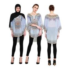 Shirt Clothing Tops Blouse Islamic Muslim Fashion Women And Casual Chiffon Middle-East-Wear