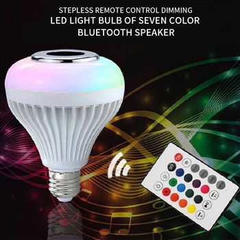 Bluetooth Light Bulb Speaker  Smart LED RGB Color E27 with Remote Control Multicolor Lights