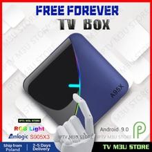 Free Lifetime A95X F3 Air RGB Light TV Box Android 9.0 4GB 6