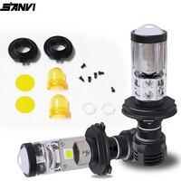 Sanvi 2pcs 2nd Generation MIni 35w H4/H7 Auto bi LED Projector Lens Headlight for H4/H7 car motorcycle Headlight replacement