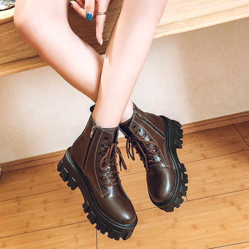 COOTELILI Herbst Winter Schuhe Frau Frauen Hohe Stiefel Plüsch Multicolor Mujer 2019 Stiefeletten Schwarz Casual Mode Schneeschuhe