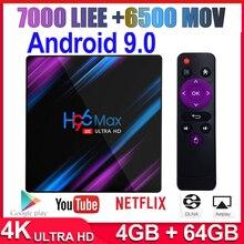 Android 9.0 H96 MAX 1000M Smart TV Box Amlogic RK3318 8K 4GB 64GB 2.4G&5G Wifi 4K Media Playe Andriod TV Set Top Box 1 Year IPTV m9 plus amlogic s905 android5 1 4k smart tv box