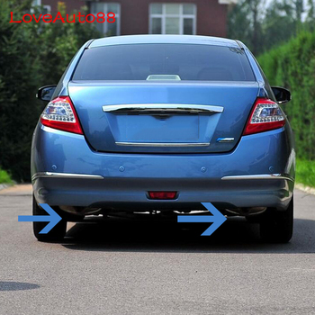 High Quality Stainless Steel Exhaust Muffler Decoration Car Styling Automobile Accessories 2Pcs For Nissan Teana J32