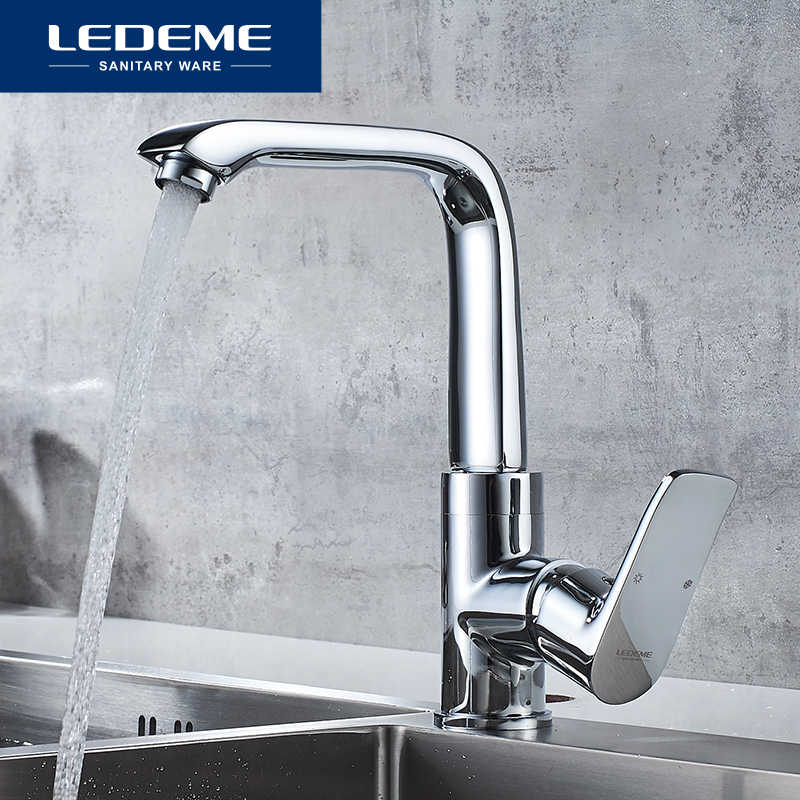 Ledeme Kitchen Faucet Top Quality Chrome 360 Degree Swivel Kitchen Mixer Cold Hot Sink Tap Faucets Taps L4034 2 Kitchen Faucets Aliexpress