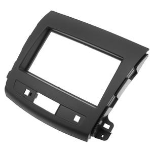 Image 3 - 2Din Car Radio Fascia For Mitsubishi Outlander 2008 2012 Auto Stereo Interface Panel In Dash Mount Frame Kit