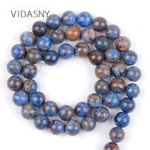 цена Natural Stone Blue Charoite Round Loose Beads For Needlework Jewelry Making 6/8/10/12mm Spacer Beads Diy Bracelet Necklace 15'' онлайн в 2017 году