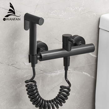 Toilet Bidet Angle Copper Single Cold Bathroom Toilet Shower Blow-fed Spray Gun Nozzle Bidet Faucet Bathroom Hardware 811105