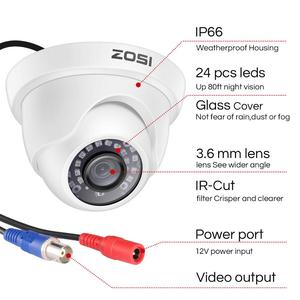 Image 5 - ZOSI 1080P CCTV מצלמה מערכת 4CH 1080P DVR מערכת עם 2x חיצוני 2MP וידאו אבטחת מצלמות 2CH בית מעקב מצלמה קיט
