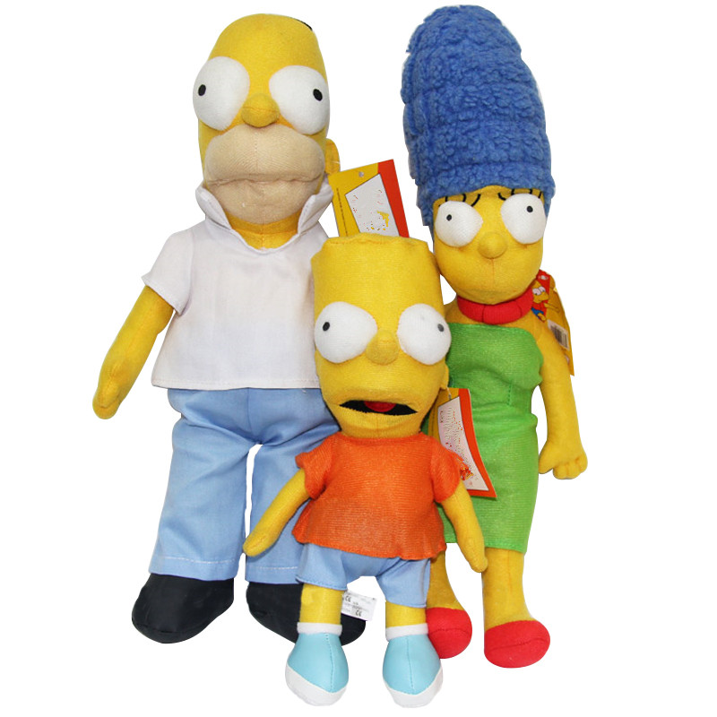 Plush Stuffed Toys Simpsons Family Homer J. Marge Bart Stuffed Doll Gift For Child Fan Movie Anime Birthday Christmas