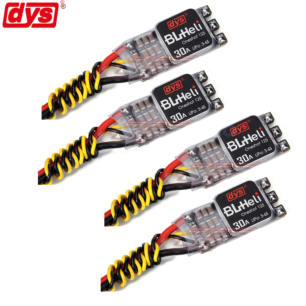 4pcs/lot Original DYS NEW Version XM30A XMS30A BLHeli Mini 30A V2 ESC For High KV Power Electronic Speed Controller