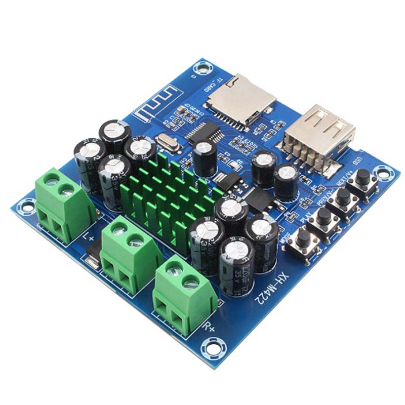 Hot Bluetooth 4.0 Amplifier Board Stereo 50W X 2 Audio Amplifier With Bluetooth U Disk TF Card Player 12-24V Xh-M422 C3-001