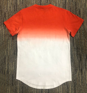 Image 2 - New Fashion Mens Casual T shirts Short Sleeve Gradient siksilk O neck T shirt for Men Clothes 2019 Brand T shirt