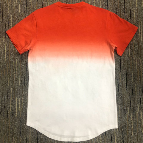 New Fashion Mens Casual T-shirts Short Sleeve Gradient siksilk O-neck T-shirt for Men Clothes 2019 Brand T shirt Lahore