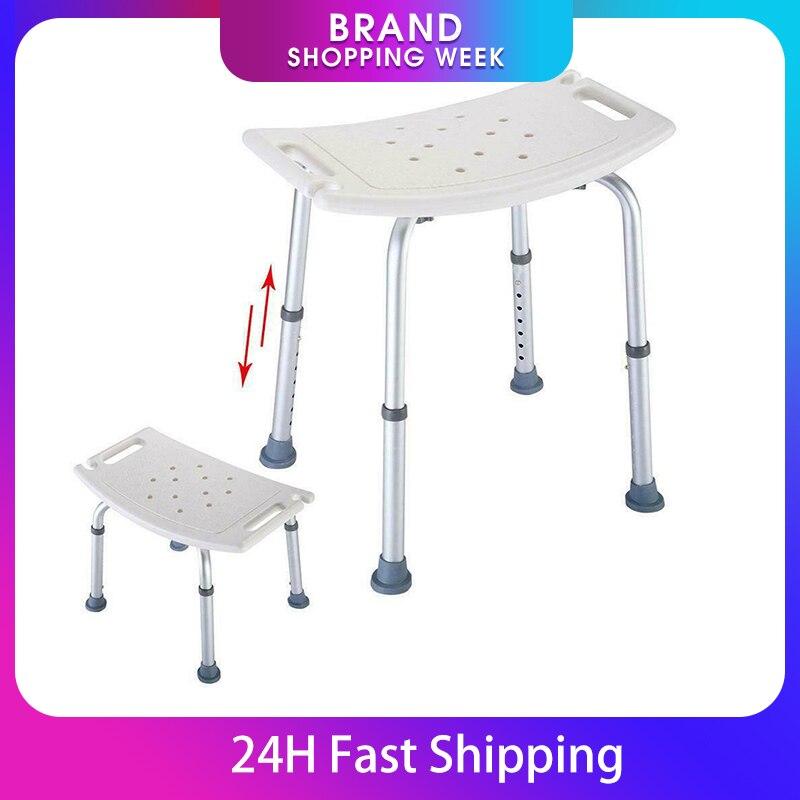 Bench-Stool-Seat Shower-Chair Bath Elderly Baby Non-Slip 7-Gears Tubs Safe Height-Adjustable