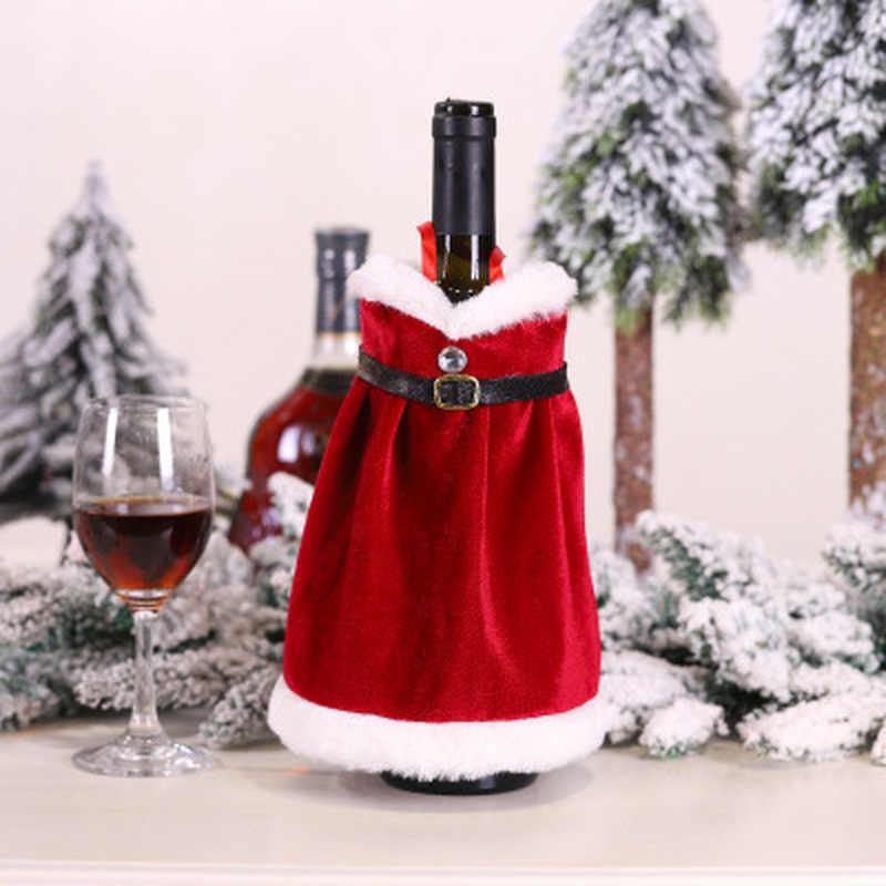 Sweater Red Wine Bag Bottle Decoration Home Adornos Hat Christmas Dress Skirt US