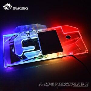 Bykski-bloc d'eau, pour Sapphire Radeon RX 5700 XT Nitro +, couverture complète de radiateur en cuivre/12V RGB / 5V éclairage A-RGB