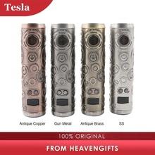 Elektroniczne papierosy Tesla Punk 86W Mod Teslacigs Max 86W zasilany przez 18650 baterii Punk Style vape parownik VS Punk 85W E cig tanie tanio Mechaniczne Mod Metal Brak 510 thread RDA RTDA RTA Atomizer
