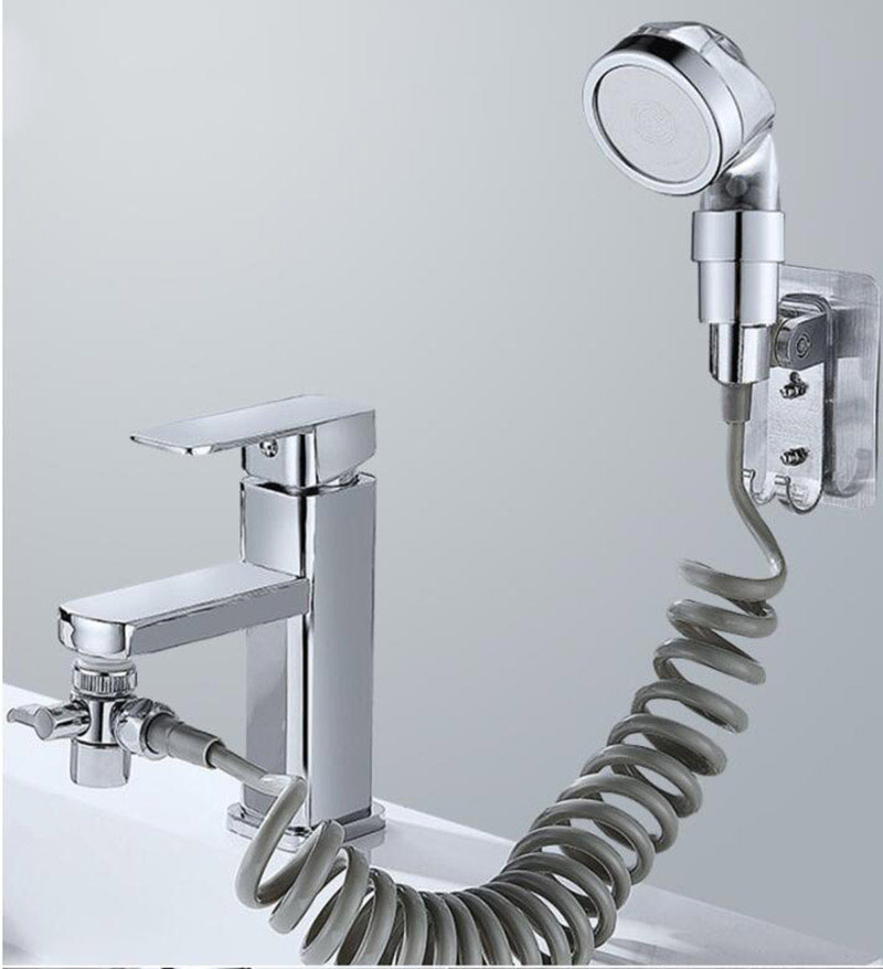 H168ce40275fb4f43877a17daf071a903r Bathroom Hair Washing Shower head system string hose water tap wall mount Faucet Handheld Sprayer Faucet Water Saving Flexible