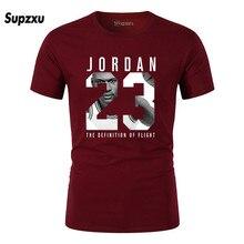 2019 new mens JORDAN 23 printing T-shirt brand clothing hip hop letter short-sleeved anime high quality