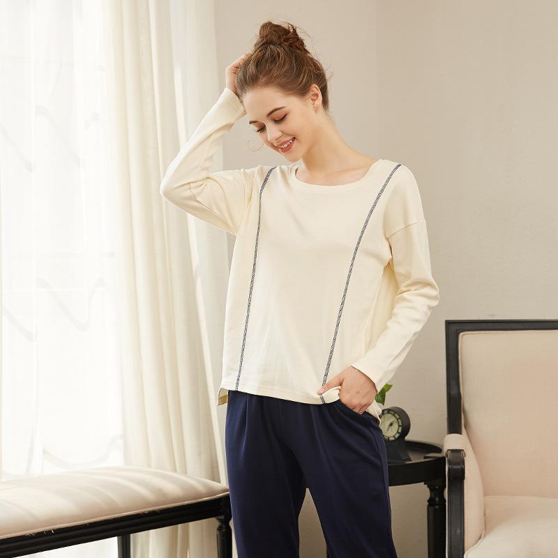 Long sleeve cotton Sets Style Women Sleepwear Suit Home Women  Female Sleepwear Sexy  fashion homewear Pajamas