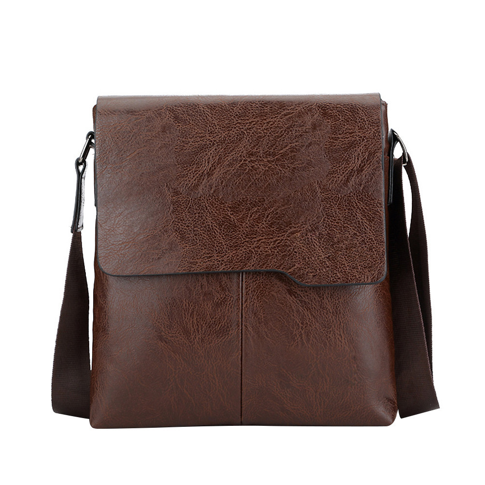 Famous Brand New Fashion Man Leather Messenger Bag Male Cross Body Casual Man Bag Shoulder Bags Briefcases Business Office