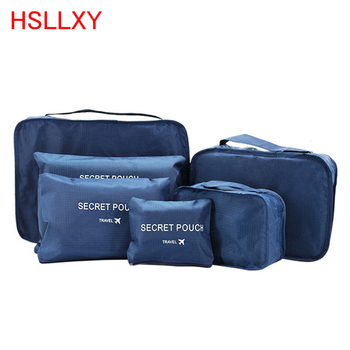 Travel Bag Hot Sale Travel Organizer Storage Bag Set Clothes Organizer Bags Pouch Suitcase Home Closet Bags for Storage 6 PCS
