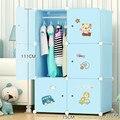 Детский гардероб с героями мультфильмов  экономичный цельный деревянный детский пластиковый сборный простой Тканевый шкаф  шкаф для хране...