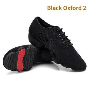 Image 5 - Танцевальные туфли унисекс, дышащие, сетчатые, для джаза, балетных, латинских танцев, женские кроссовки для фитнеса