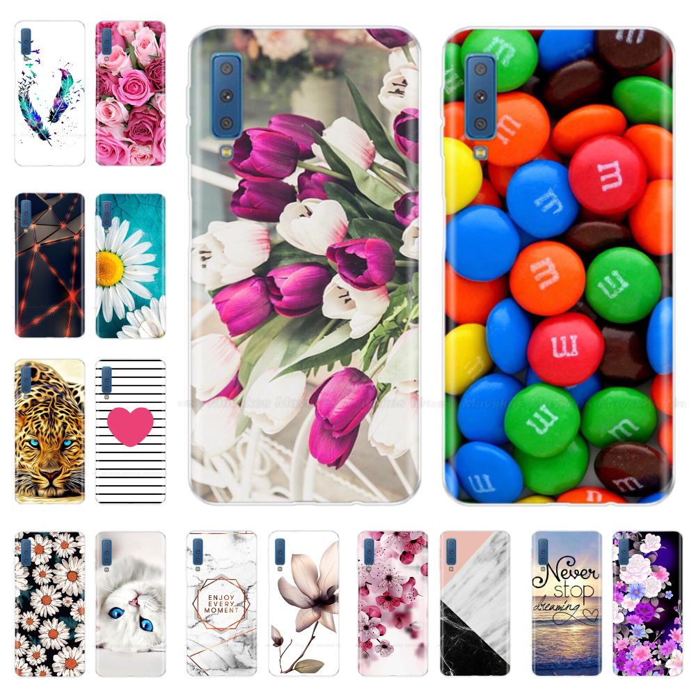 Cute Silicone Cover For <font><b>Samsung</b></font> Galaxy A7 <font><b>2018</b></font> A750 Case 6.0 inch Phone Case For <font><b>Samsung</b></font> A7 A 7 <font><b>2018</b></font> <font><b>750</b></font> <font><b>750</b></font> F Fundas Coque image
