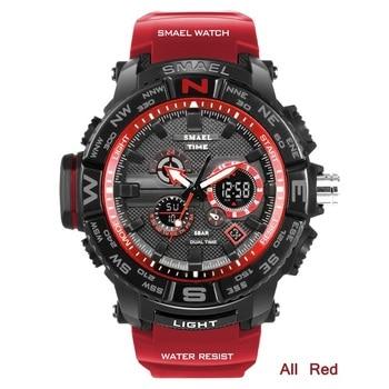 цена на Relogio Masculino SMAEL Brand Sport Watch Mens Digital Quartz Wristwatc Men Shock Military 5bar Waterproof Watches Mens Watches