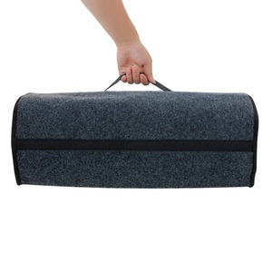 Image 4 - 1pc Car Trunk Organizer Storage Box Bag Foldable Soft Felt Auto Car Boot Organizer Travel Tools Stowing Tidying Container Box