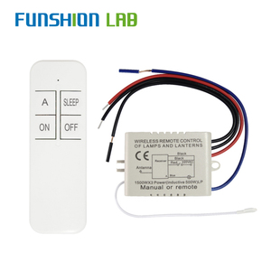 FUNSHION 1 Way AC 220 V RF Remote Digital Wireless Remote Control Switch ON/OFF Ceiling Fan Panel Control Switch For Light Bulb(China)