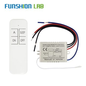 цена на FUNSHION 1 Way AC 220 V RF Remote Digital Wireless Remote Control Switch ON/OFF Ceiling Fan Panel Control Switch For Light Bulb