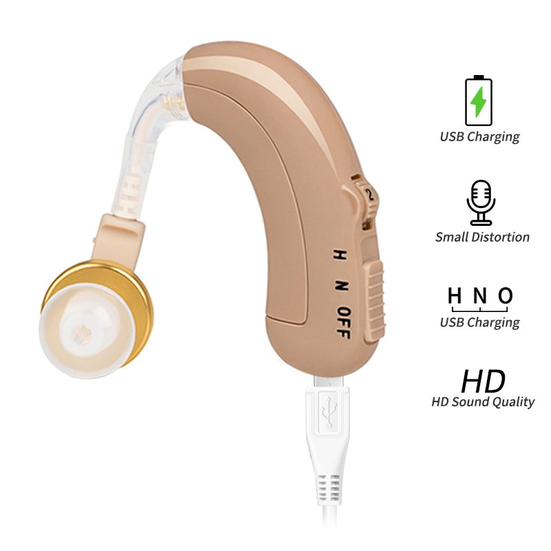 Mini Ear Hearing Amplifier Rechargeable Hearing Aids Adjustable Tone Hearing Aid Device Sound Amplifier For Elderly Hearing Loss