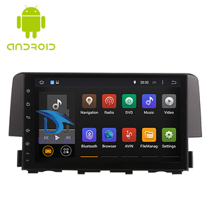Image 1 - 9 Inch Android 9.0 IPS Screen Car Radio player  For Honda Civic 2016 2020 Car Video WIFI Multimedia Car GPS Navigation Head Unit