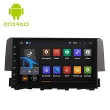 9 inç Android 9.0 IPS ekran araba radyo çalar Honda Civic 2016 2020 araba Video WIFI multimedya araba GPS navigasyon başkanı ünitesi